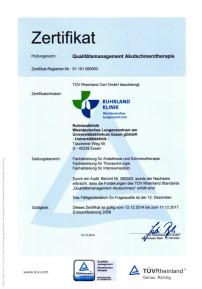 Qualitätsmanagement Akutschmerztherapie Zertifikat